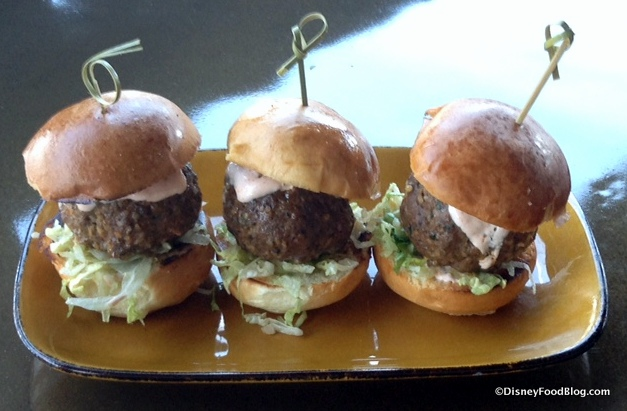 Rolling Boulder Sliders with yogurt sauce