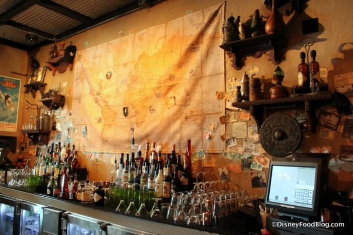 Jock Linsey's Hangar Bar Map