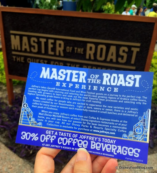 Master of the Roast Experience Coupon