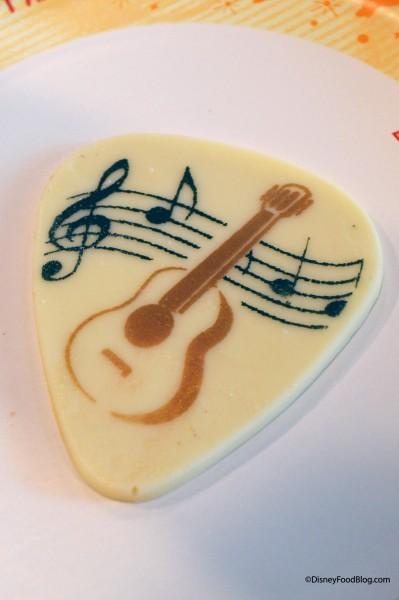 King Cupcake Chocolate Guitar Pick