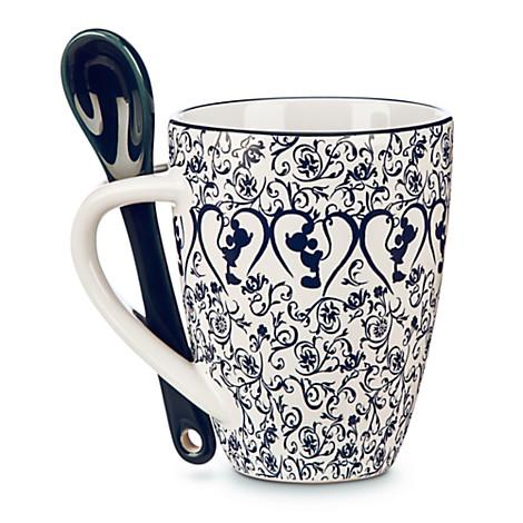 Mickey Mouse Icon Indigo Mug with Spoon