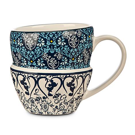 Mickey Mouse Icon Indigo Stacked Mug  sc 1 st  Disney Food Blog & New! Disney Introduces the Indigo Tableware Collection   the disney ...