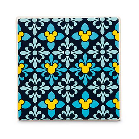Mickey Mouse Icon Indigo Tile -- Diamond
