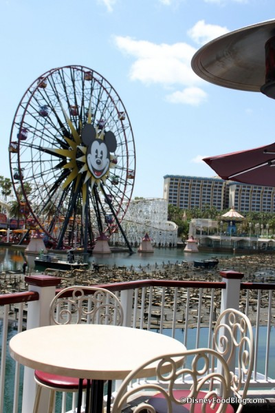 Cove Bar View of Paradise Pier and World of Color