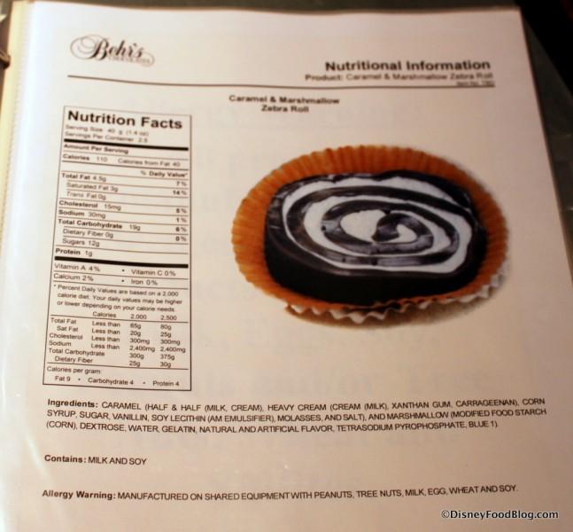 Ingredients in Zebra Caramel Swirl