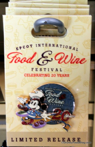 Commemorative Food and Wine Festival Trading Pin