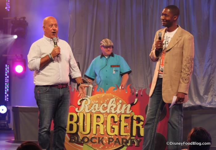 Chef Andrew Zimmern at the First Rockin' Burger Block Party