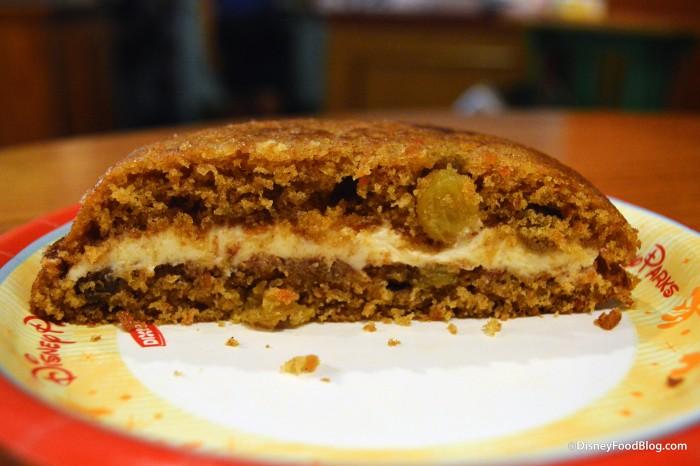 Carrot Cake Cookie Cut In Half