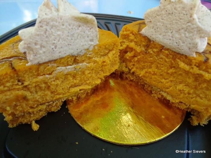 Pumpkin Cheesecake Cross Section