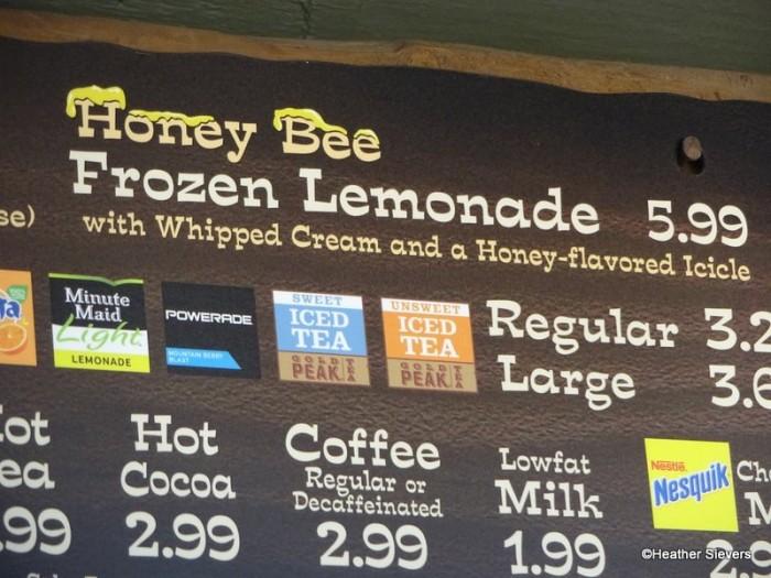 Honey Bee Frozen Lemonade Signage