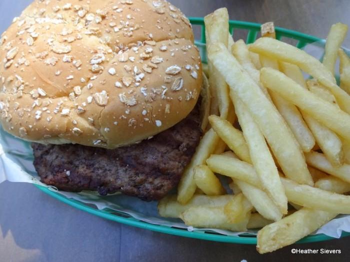 Hungry Bear Plain Hamburger with Fries