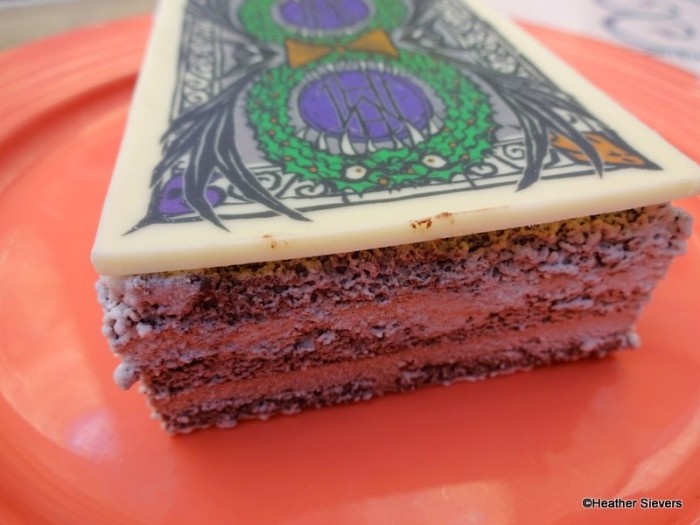 """Chocolate """"Cake"""" Dusted with Powdered Sugar"""