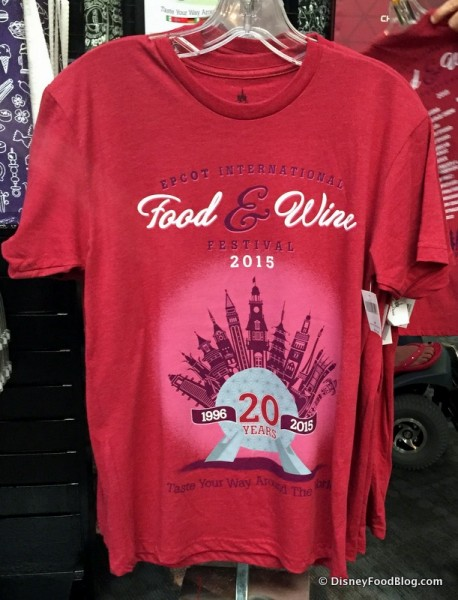 Short Sleeved 20th Anniversary T-Shirt in Red