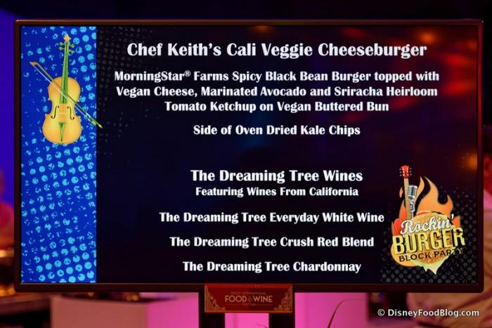 Cali Veggie Burger Display
