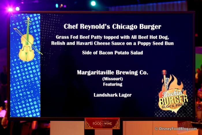 Chicago Burger Description