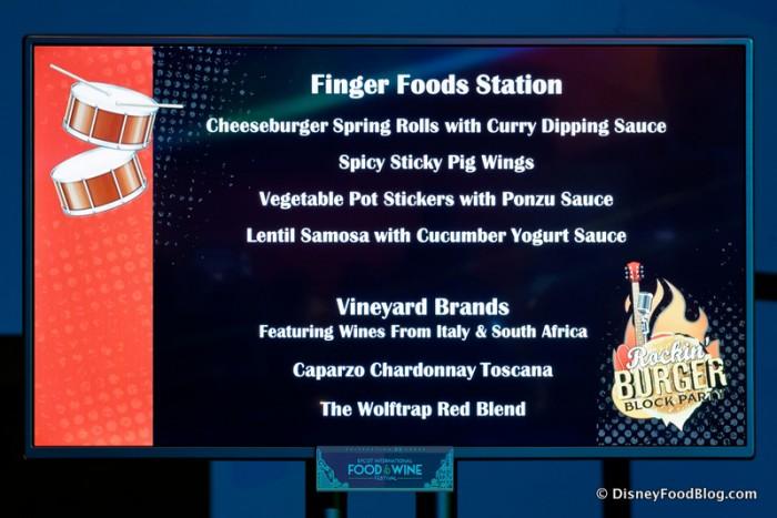 Finger Foods Station