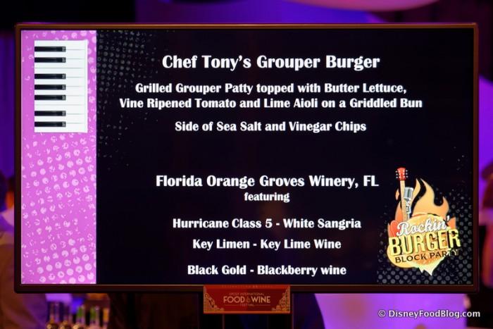 Grouper Burger Description