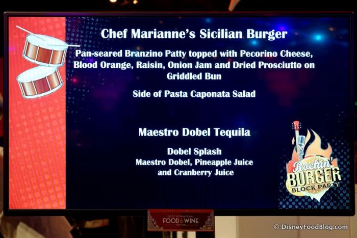 Sicilian Burger Description