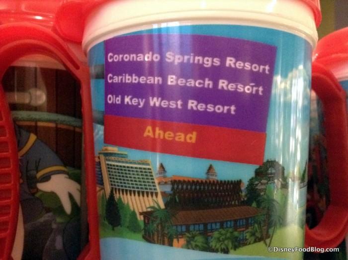 Magic Kingdom Resorts and Road Sign