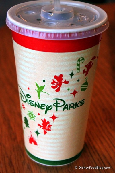 Soda Cups Dressed Up for Christmas
