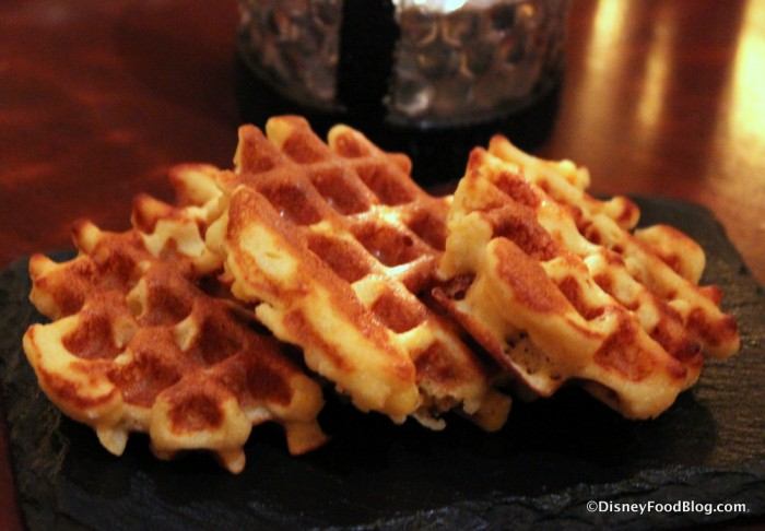 Corn Waffles served with Chicken and Waffles dish