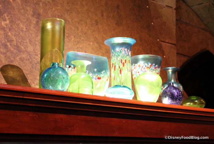 Glass Decorations in Le Cellier Steakhouse