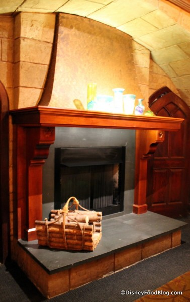 Fireplace in Le Cellier Steakhouse