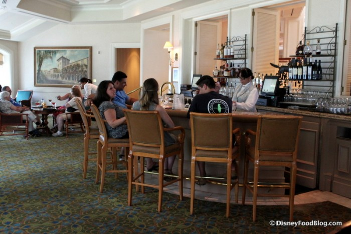 Mizner's Lounge -- The Bar Area