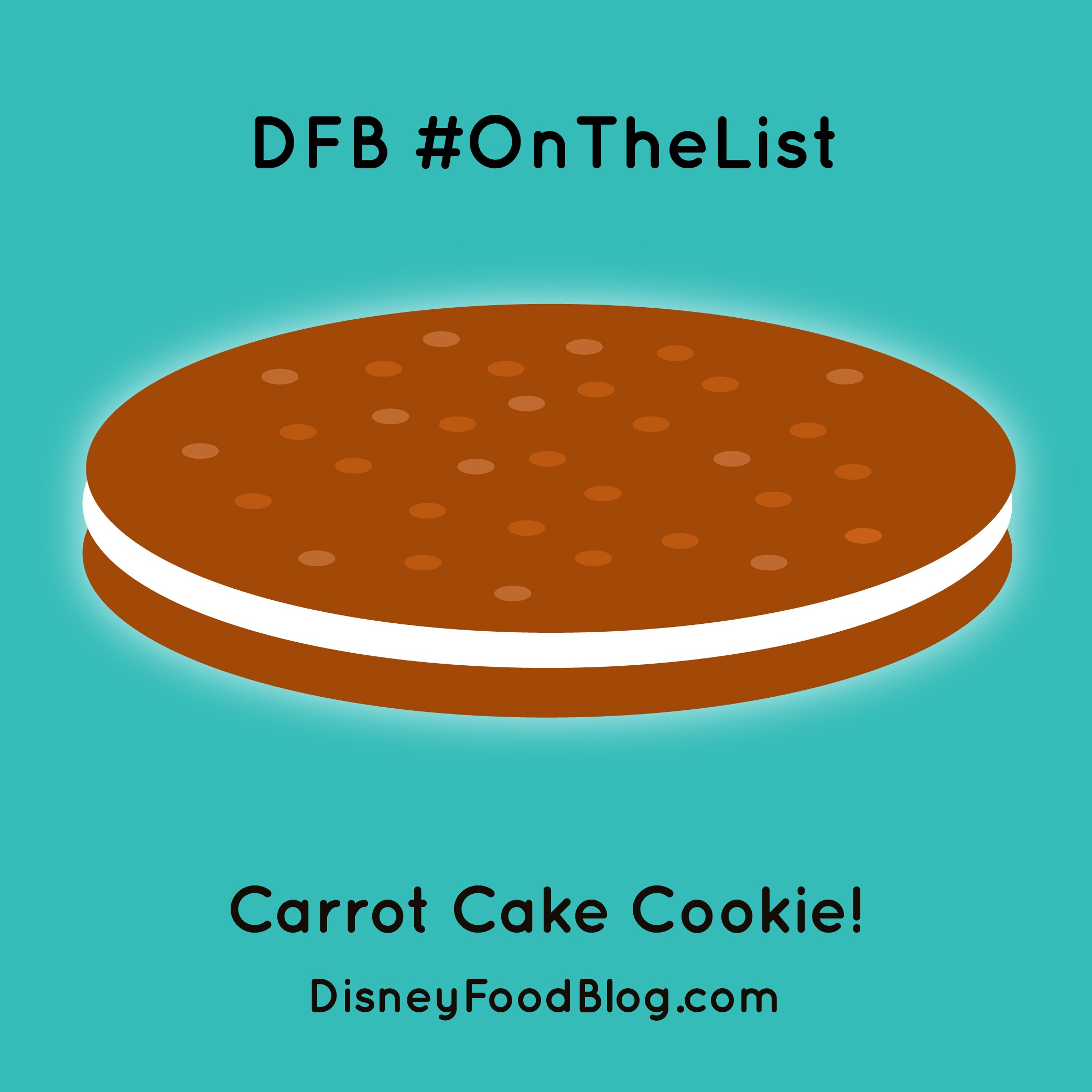Hollywood Studios Carrot Cake Cookie