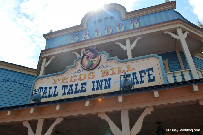 Pecos Bill Tall Tale Inn and Cafe Sign