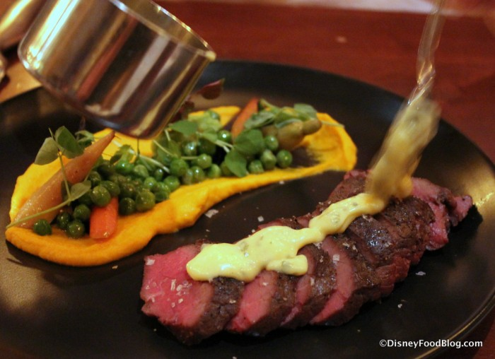 Seared Canadian Bison Strip Loin with Truffle Béarnaise Sauce