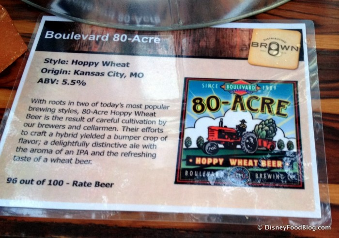 80-Acre Beer Information Card