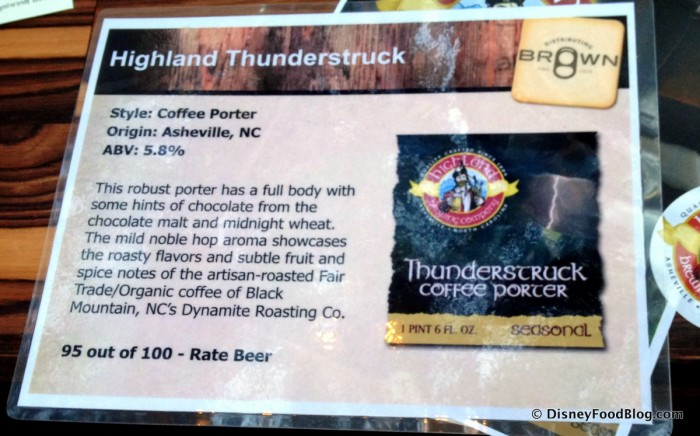 Thunderstruck Coffee Porter Information