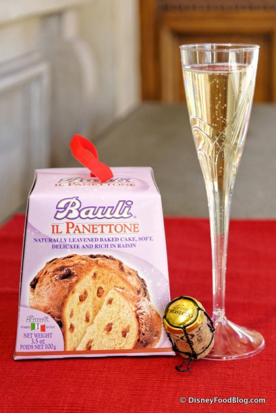 Panettone and Prosecco