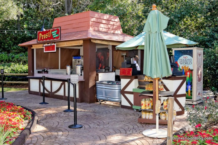 Prost Kiosk in the Germany Pavilion