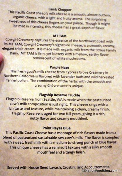 Description of Cheeses