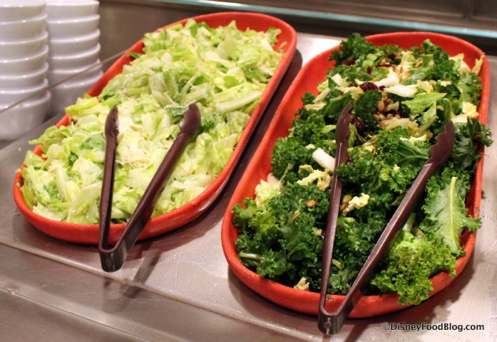 Caesar Salad and Winter Kale and Cabbage Salad