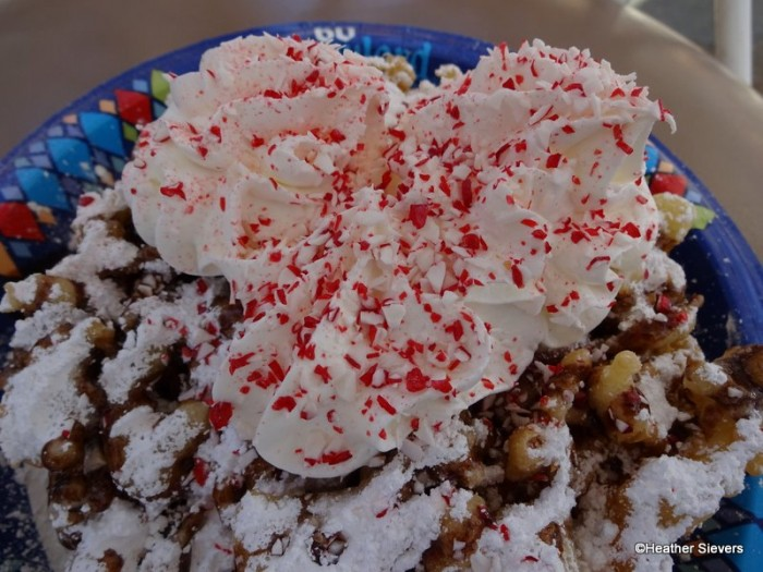 Mickey Whipped Topping with Crushed Candy Canes!