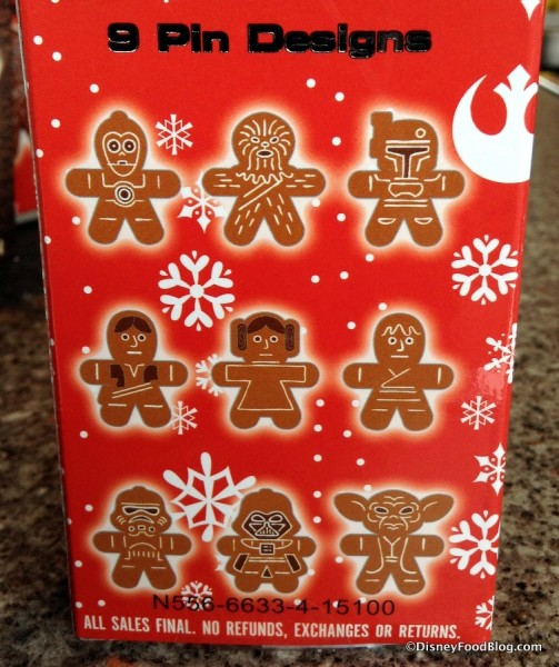 Nine Star Wars Gingerbread Pins