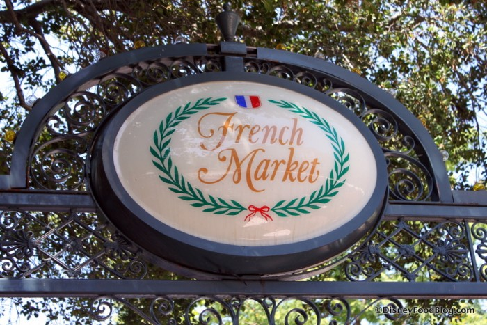 The French Market Sign in New Orleans Square