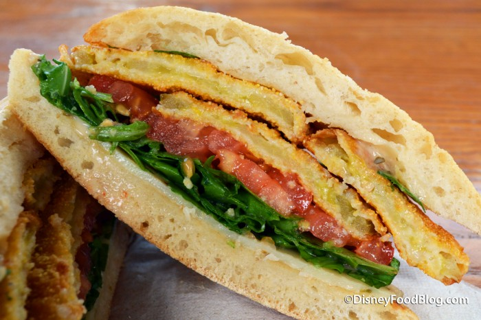 Cut Fried Green Tomato Sandwich