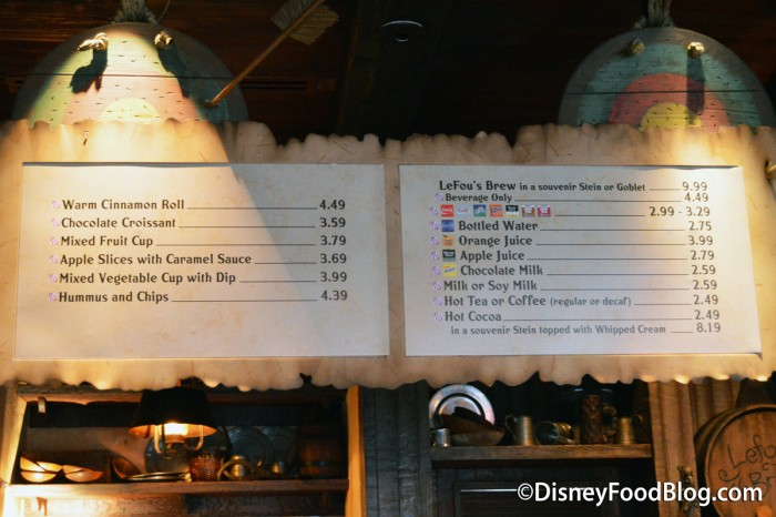 Gaston's Tavern Menu