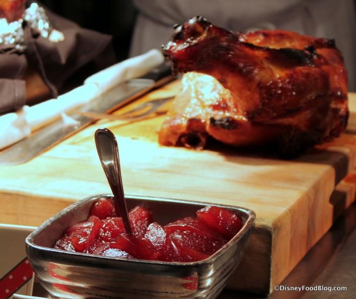 Honey Bourbon Turkey and Cranberry Sauce