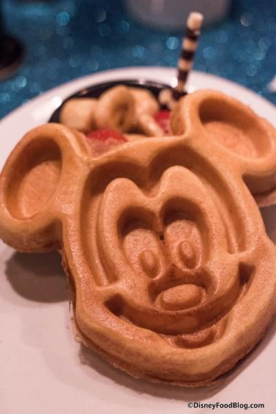 Mickey Mouse Waffle Close Up