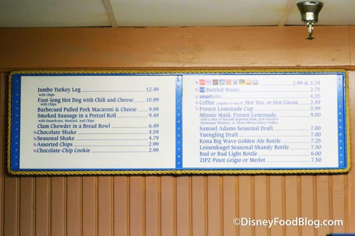 Min and Bill's Dockside Diner Menu