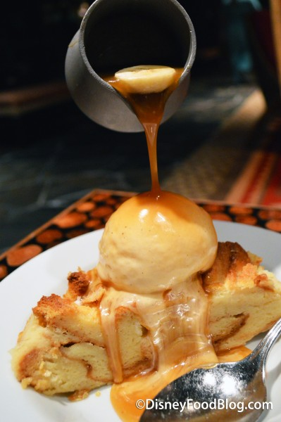 Pouring The Caramel and Bananas