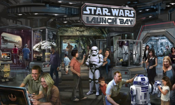Star Wars Launch Bay Concept Art ©Disney