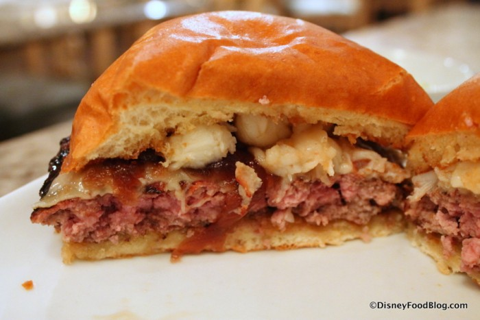 Cross-section of the Surf and Turf Burger