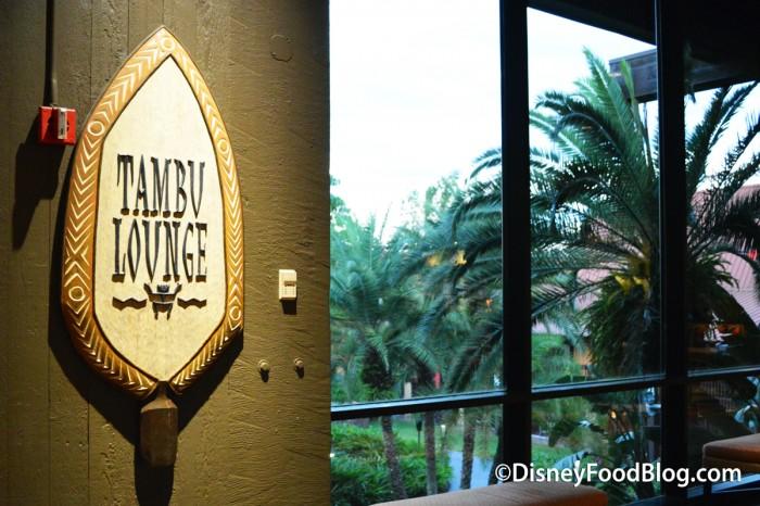 Tambu Lounge Sign