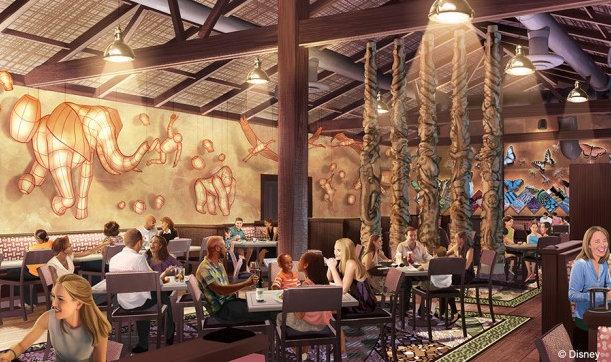 Artist's Rendering of Tiffin's Restaurant ©Disney